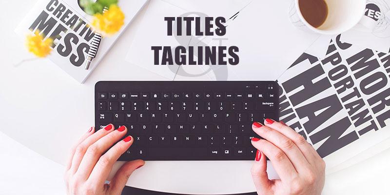 Better SEO Optimized Titles & Taglines